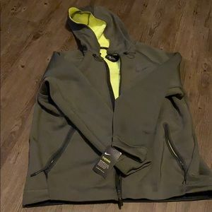 Mens Nike Training Jacket Olive Green XXL